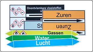 Stickers als kabellabels